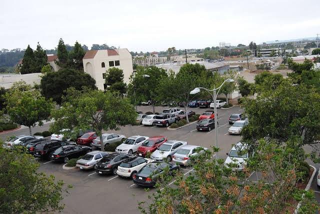 birds eye view west parking lot