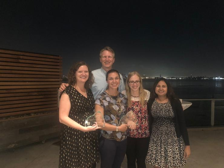 Pictured from left to right  - Name and Agency: Allison Wood (SANDAG), Scott Anders (EPIC), Crystal Najera (City of Encinitas), Katie Hentrich (SANDAG), and Poonam Boparai (Ascent Environmental)