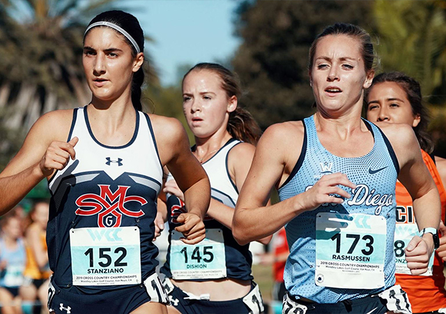 Image of USD Women's Cross Country competing against other schools