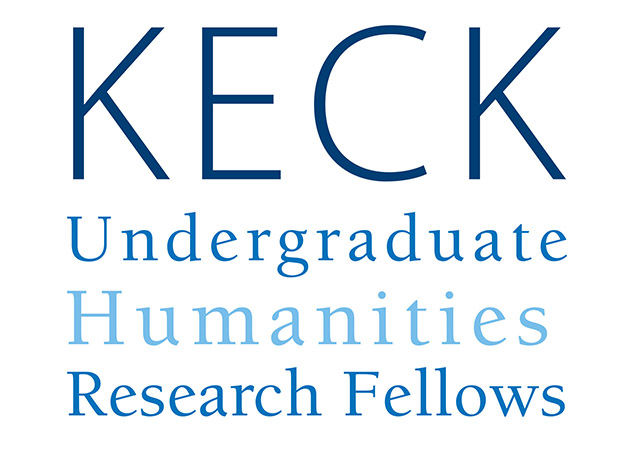 white background with text Keck Undergraduate Humanities Research Fellows