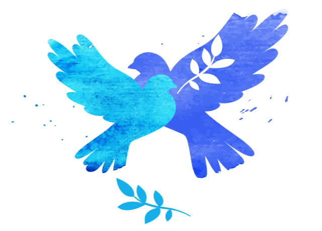 Image of two doves and an olive branch