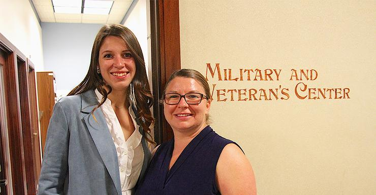 USD Military and Veterans Program Director Amanda Etter, right, hosted Ukraine Sociology Professor Mariia Kolokolova, PhD, for a month-long stint as a professional fellow in the U.S.