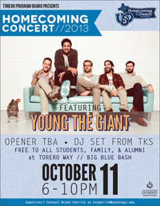 Young The Giant Homecoming Concert