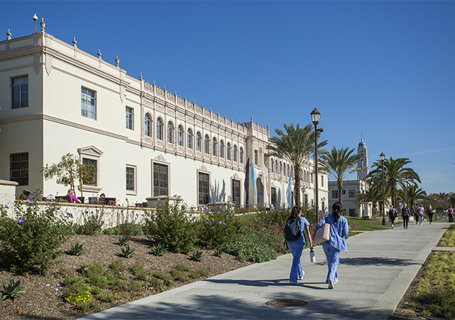 Camino Hall, pictured, and Founders Hall, will be renovated starting June 1 as part of USD's Renaissance Plan.