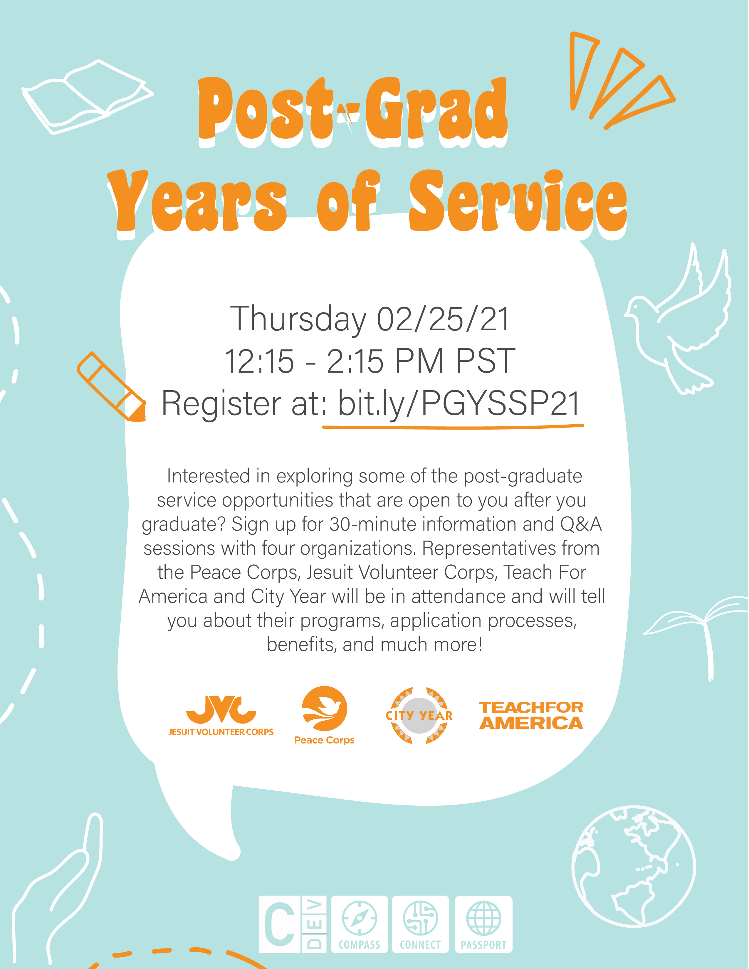 Post-Grad Years of Service flyer