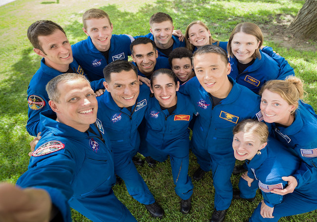 NASA astronaut training candidates