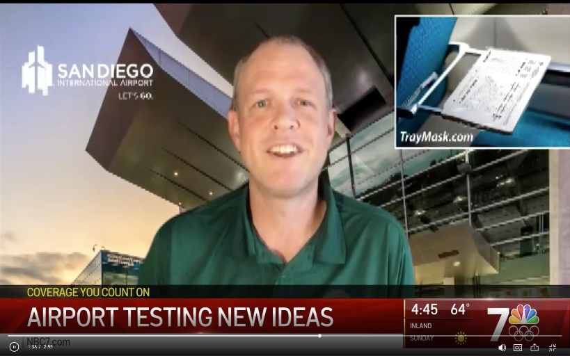 USD School of Business alum, Ben Erickson, speaking on NBC7 about his company