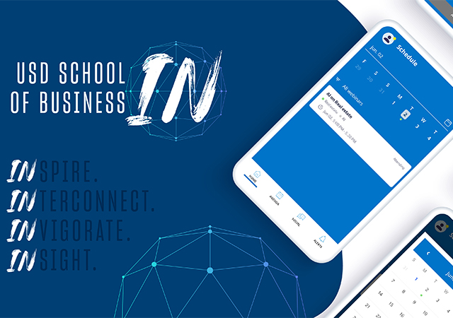 USD School of Business new mobile app, IN