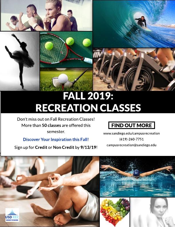Fall 2019 Recreation Classes (alt)