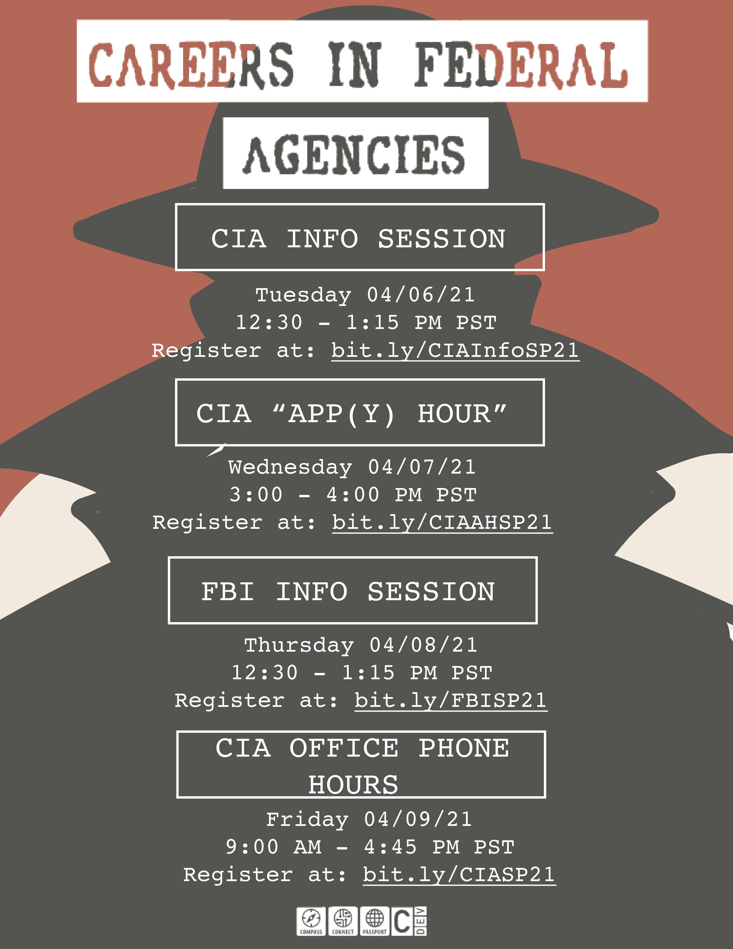 Careers in Federal Agencies Flyer