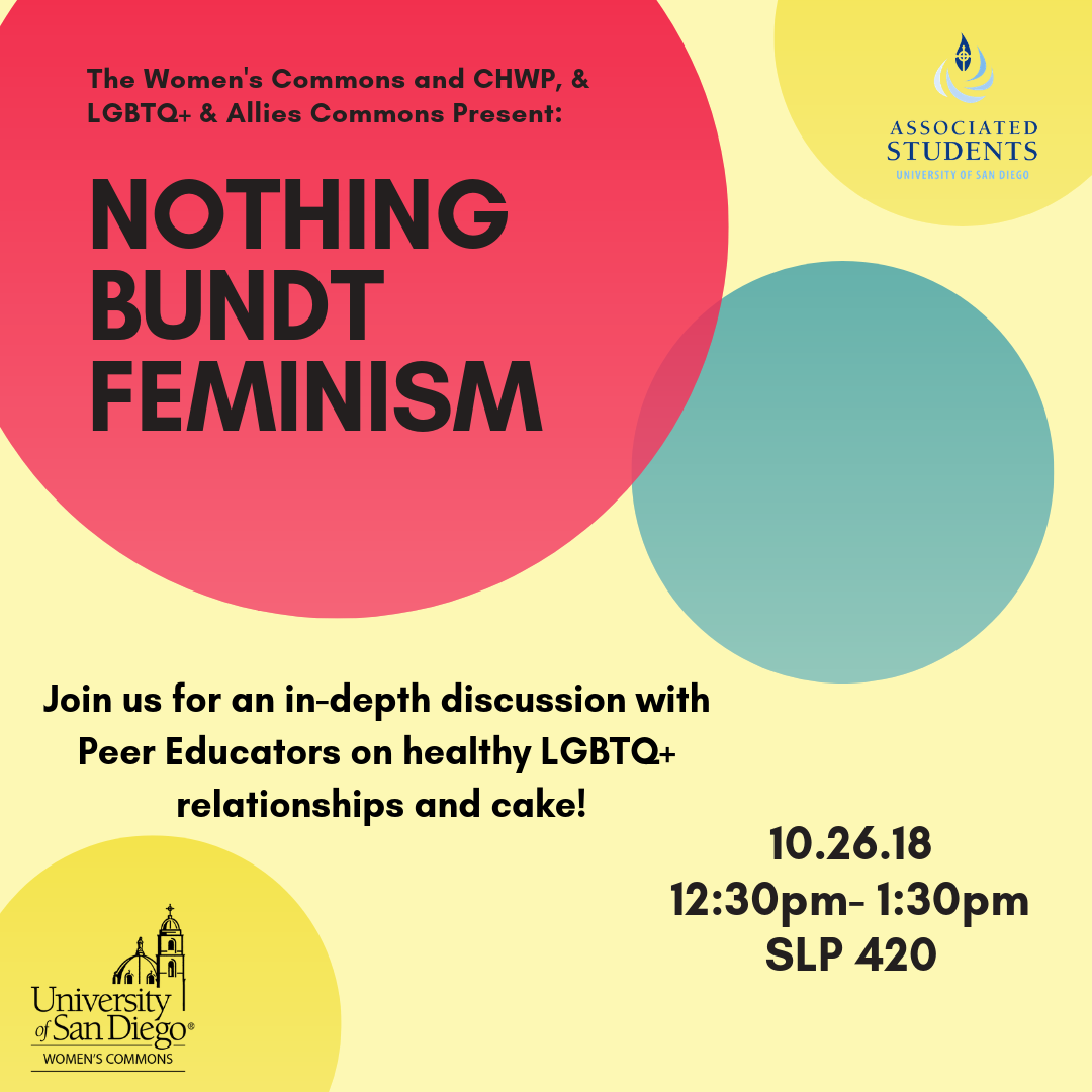 The WC, CHWP, & LGBTQ+Allies Commons present: Nothing Bundt Feminism 10.26.18, 12:30-1:30pm