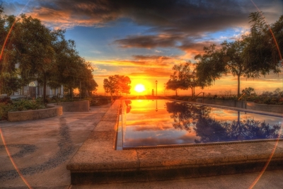 sunset over KIPJ reflection pool