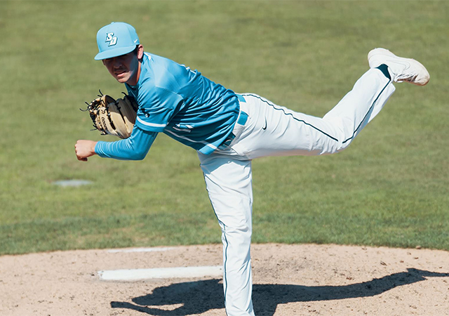 Grady Miller is a top returning starting pitcher for the 2020 USD Torero Baseball team.