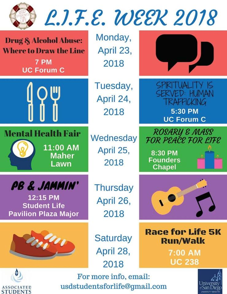 flyer for life week events