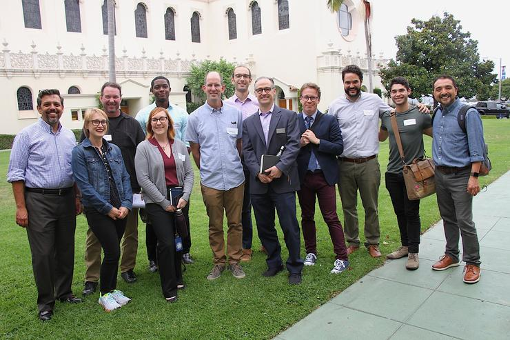 faculty Fellows in front of Immaculata Church