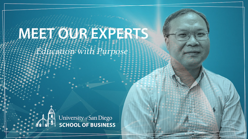 University of San Diego Professor of Finance Phil Zhu