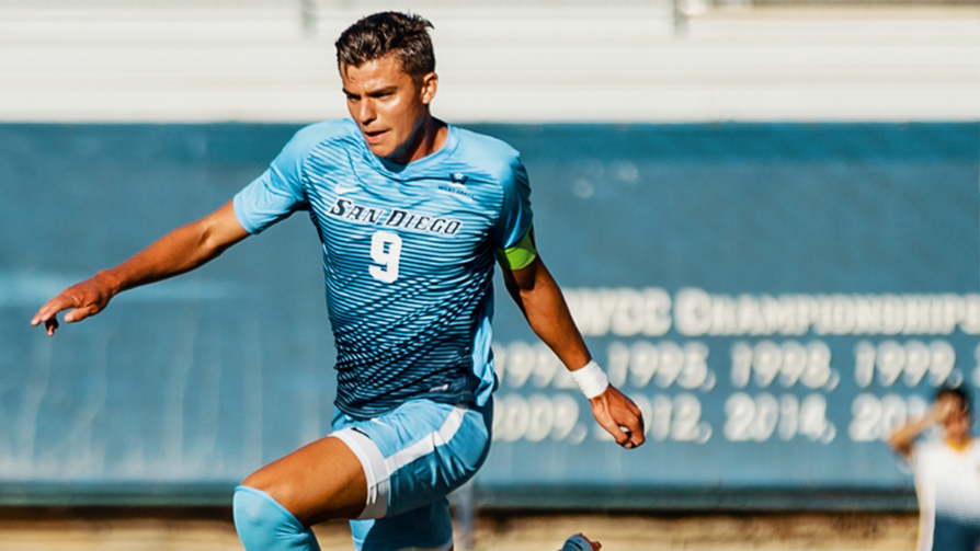 USD School of Business student Miguel Berry  '19  drafted for Major League Soccer team