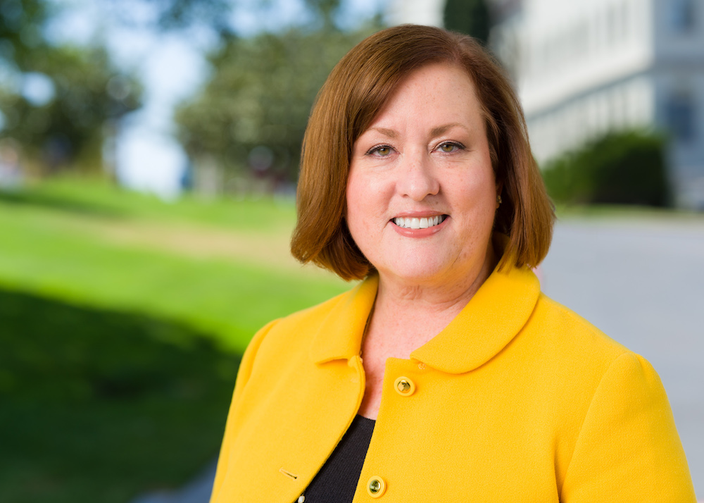 University of San Diego alumna and new chair of the School of Business' Board of Advisors, Jacqueline Akerblom