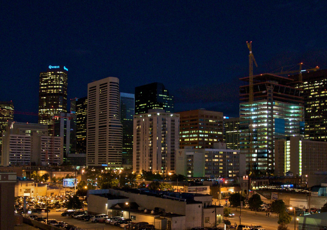 A skyline of Denver, Colorado