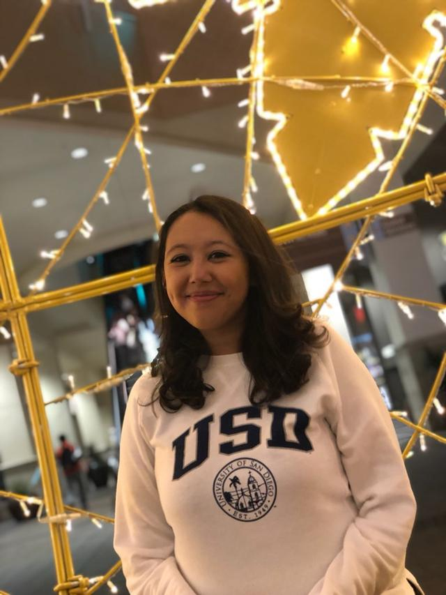USD marketing major, Erika Gonzalez