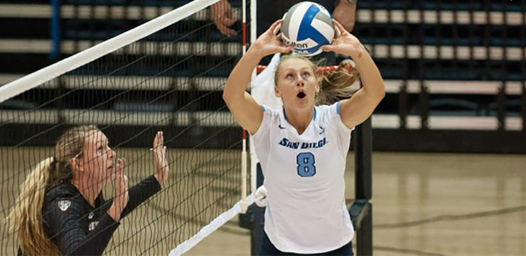 USD volleyball senior setter Kristen Gengenbacher played in Croatia this summer for the U.S. Collegiate National Team. The U.S. had a 6-0 record to win the European Global Challenge Championship.