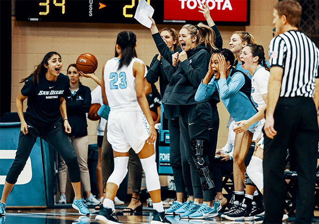 The USD women's basketball team is now riding a four-game win streak in WCC play. The team won two close games this past week.