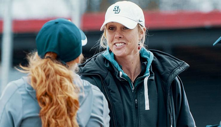 Picture of newly hired USD Softball Head Coach Jessica Pistole.