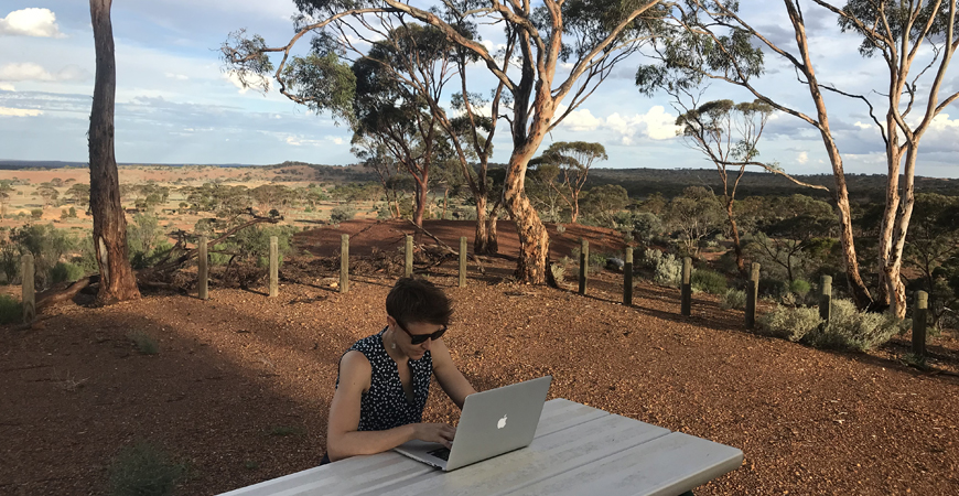 Ange Leech. Interning Remotely from Coolgardie, Western Australia.