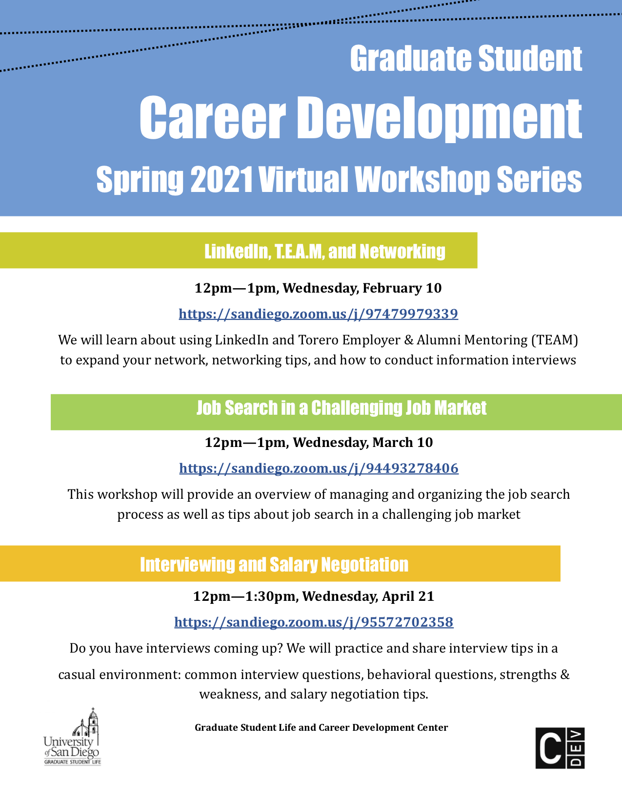 Graduate Student Career Workshop Flyer