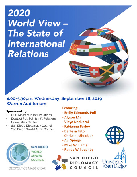 2020 World View - The State of International Relations Flyer