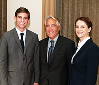 Competitor Curtis Abram, Dean Ferruolo and winner Laura Brown