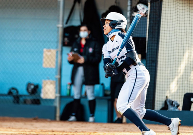 USD Softball, Alexia Torculas batting
