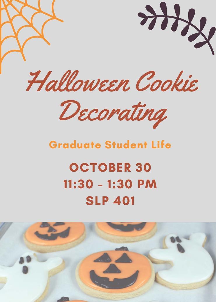 GSL Halloween Cookie Decorating, Oct 30, 11:30am-1:30pm, SLP 401