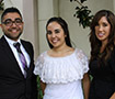 Oliver Rodriguez, Jessica Lujan, and Andrea Sloboda
