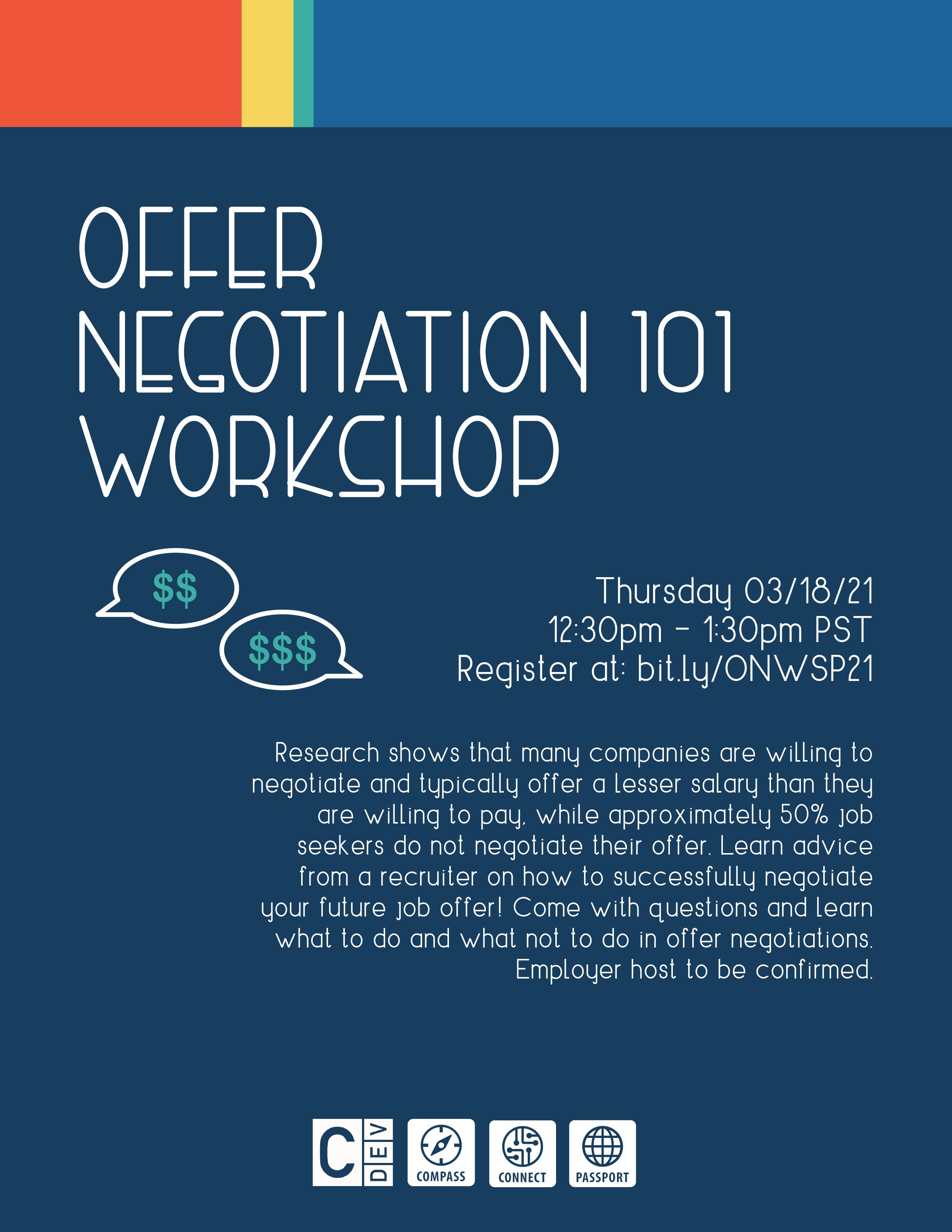 Offer Negotiations 101 Workshop flyer
