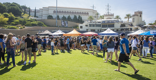 The annual Homecoming and Family Weekend takes place Oct. 11-14 all around the USD campus. One of the biggest gatherings will be at Saturday's tailgate party at USD baseball's Fowler Park.