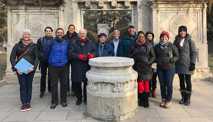 USD and Franciscan School of Theology faculty and staff went to China for a Frances G. Harpst Center for Catholic Thought and Culture-led Faculty Travel Immersion Seminar during January intersession.