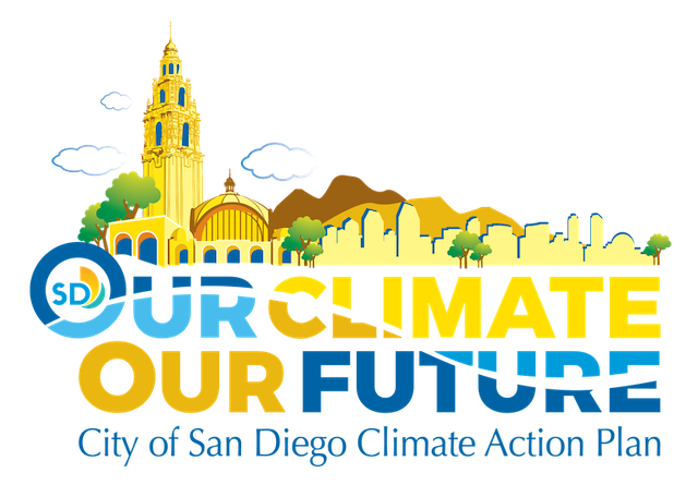 (logo) Our Climate Our Future City of San Diego Climate Action Plan