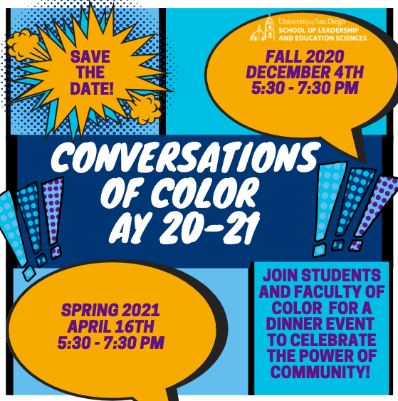 Conversations of Color AY20-21 Event Flyer