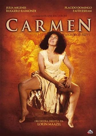 DVD cover of the Rosi film Carmen