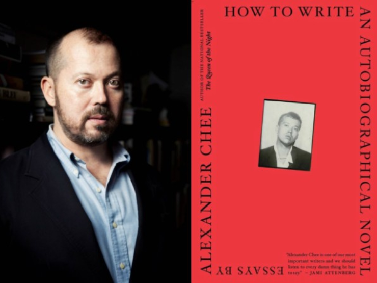 Alexander Chee headshot and book cover of How to Write an Autobiographical Novel