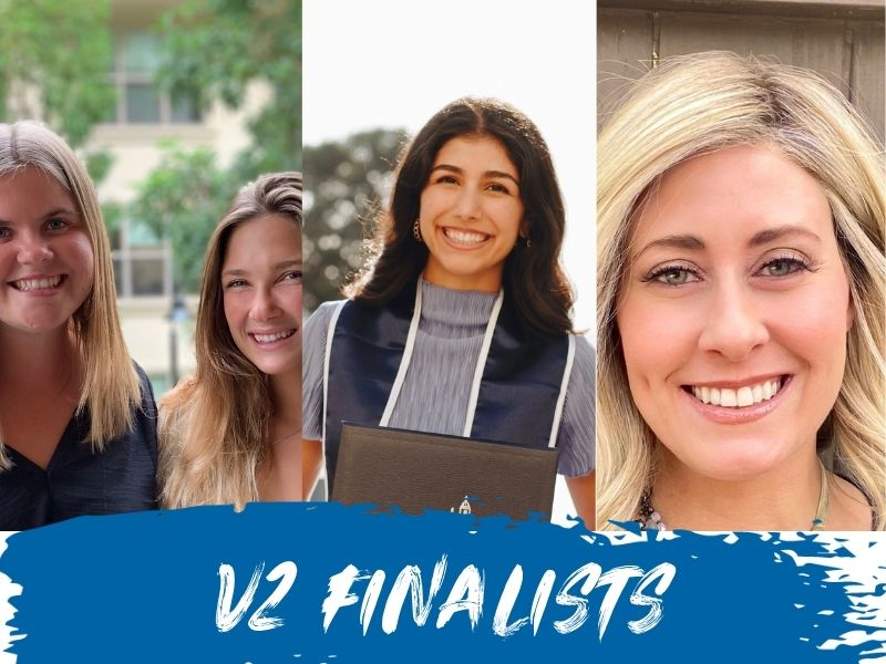 Students finalists in USD's 2021 V2 Pitch Competition: Marley Collins, Sabrina Smith, Natalia Ohanesian '20, Brianna Jackson