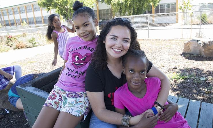 Jocelyne Olguin '17 learned a lot about the impact that USD's Mulvaney Center for Community, Awareness and Social Action has on community engagement. It helped her discover her passion to help others.