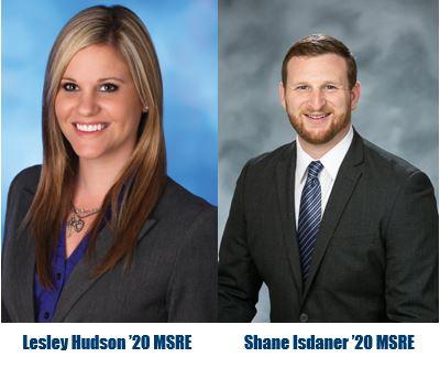 University of San Diego students, Lesley Hudson '20 MSRE and Shane Isdaner '20 MSRE