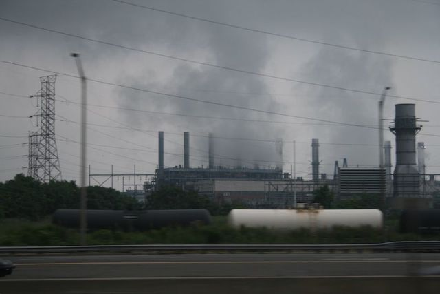 Gloomy/Smoky power plant, New Jersey Pollution