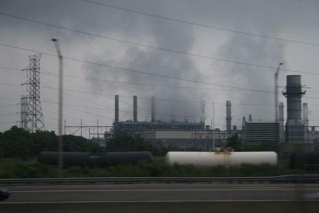 Gloomy/Smoky power plant, New Jersey Pollution
