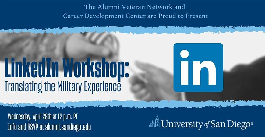 LinkedIn Workshop: Translating the Military Experience