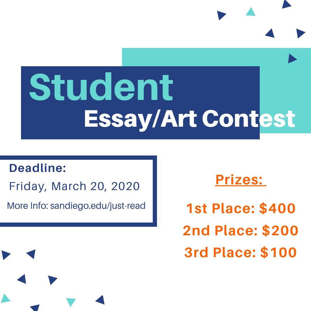 Flyer with call for student essay/art contest info.