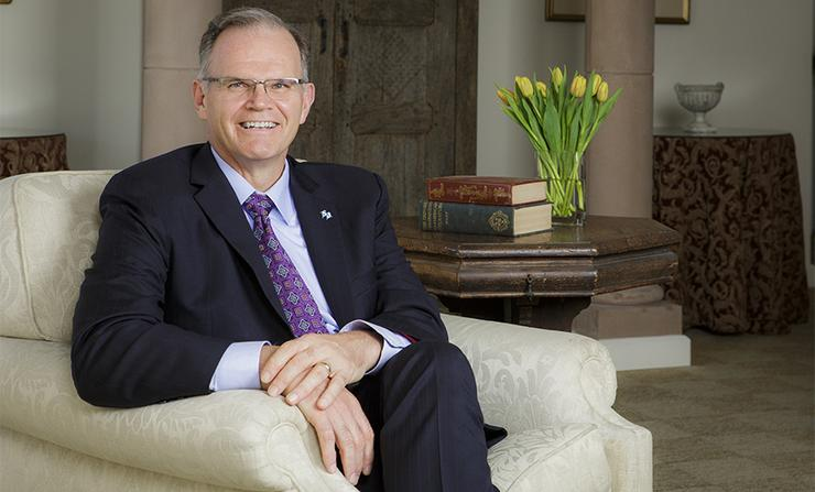 University of San Diego President James T. Harris III recently sat down for an interview that appears on the Association of Catholic Colleges and Universities blog, @ the Helm.