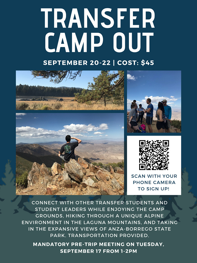 Transfer Camp Out flyer
